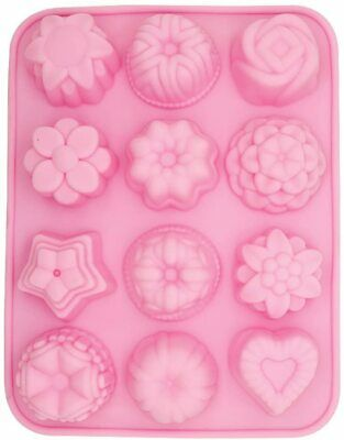 £2.99 • Buy 12 Cavity Silicone Flower Mould Tray Soap Molds Cake Mold Chocolate Jelly Baking