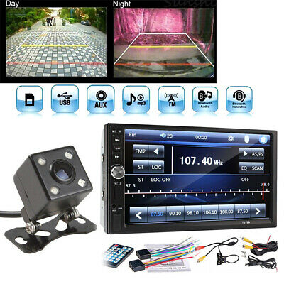 $62.15 • Buy Bluetooth Car Stereo Radio 2 DIN 7  HD MP5 FM Player Touch Screen + Rear Camera