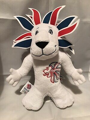 "London 2012 Lion Olympic Games Team GB Mascot Soft Toy Plush Collectable 12"" • 6.50£"