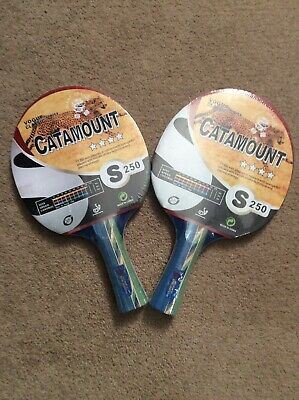 2x Giant Dragon Vogue Classic Series Catamount S250 Table Tennis Bat/Paddle New • 14£