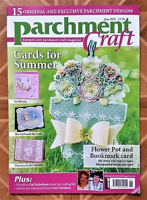 Parchment Craft Magazine June 2014 / Paper Arts Craft Card Making • 3.50£