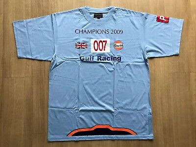 NEW Grand Prix Originals Aston Martin Racing Gulf Le Mans 007 T-shirt Large Mens • 25£