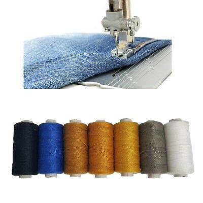 £4.49 • Buy Denim Threads Polyester Cotton Spools Sewing Strong Stitch Button Jeans Repair