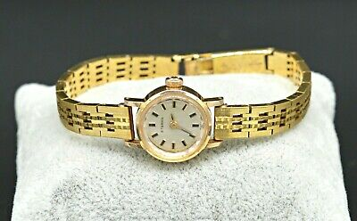 Vintage Eterna Swiss 17 Jewels Rolled Gold Mechanical Women's Gold Tone Watch • 108.53£