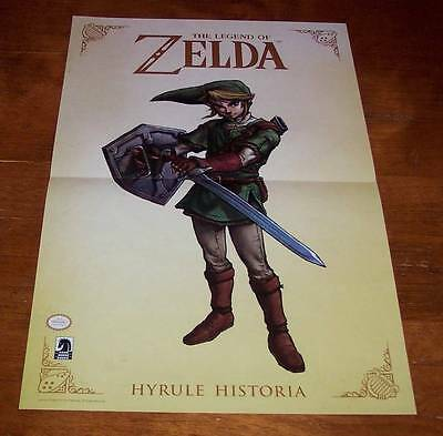 $15 • Buy Nintendo The Legend Of Zelda Link Hyrule Historia Promo Poster New 11  X 17