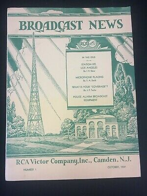 $49.99 • Buy October 1931 Rca Victor Co. Broadcast News Magazine, First Inaugural Issue