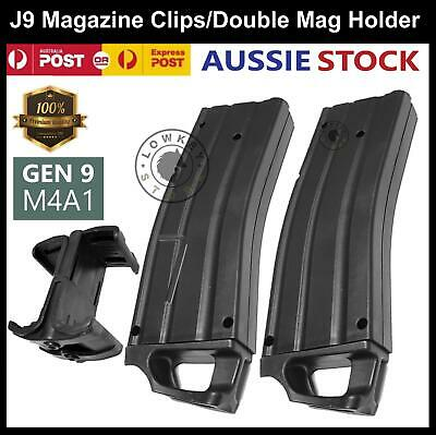 AU43.99 • Buy Gen 9 M4A1 Magazine Clips Double Mag Holder Gel Ball Blaster J9 Replacement Part