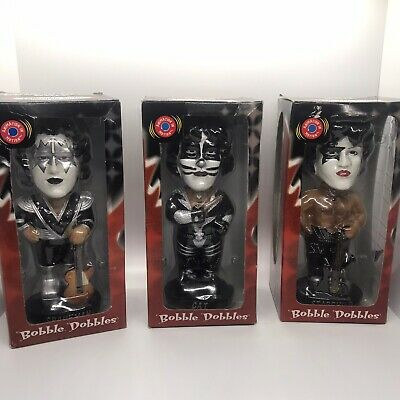 $39.99 • Buy 3 Kiss Bobble Dobbles Bobble Head Spaceman, Cat, And Starchild NIB Collectible.