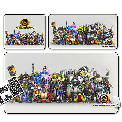 AU16.99 • Buy Extended Large Speed Overwatch Keyboard Mouse Pads Rubber Laptop Gaming Mousepad