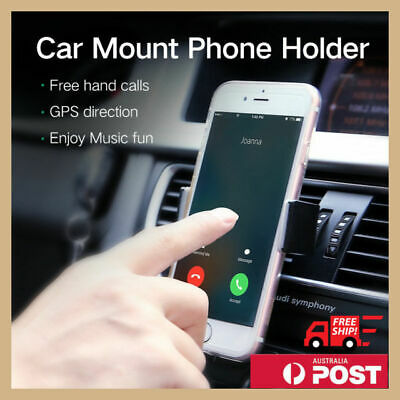 AU6.95 • Buy Universal Car Air Vent Mount Holder Cradle Stand Bracket For Mobile Cell Phone