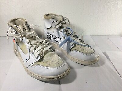 $102.50 • Buy Jordan 1 Retro High Off-White White Size 11 Used Previously Worn No Box As -Is