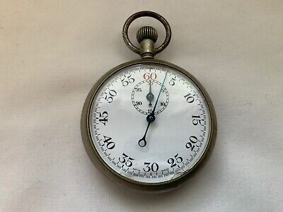 Vintage Wwii German D.r.p Military Stopwatch Working • 25£