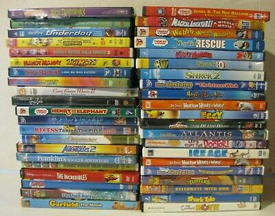 $ CDN39.42 • Buy Lot Of 42 Children Kids DVDs Disney Pixar Dreamworks Pre Owned See Pictures