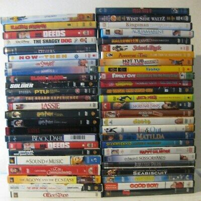 $ CDN36.60 • Buy Lot Of 50 ASSORTED LOT DVDs Movies - Action Adventure Drama Family Comedy