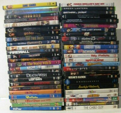 $ CDN36.60 • Buy Lot Of 50 ASSORTED LOT DVDs Movies Action Adventure Drama Family Comedy Suspense