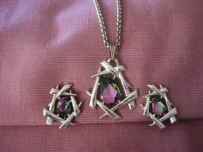 $5.99 • Buy Vintage Sarah Coventry Demi ~  Chinese Modern  ~ Necklace & Earring Set ~ 1964