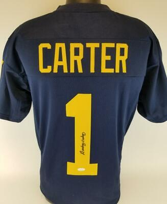 $ CDN56.56 • Buy Anthony Carter Signed Michigan Wolverines Football Jersey JSA Witness COA  172