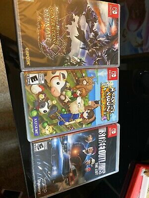 $65 • Buy Nintendo Switch Games Lot Monster Hunter Harvest Moon Street Outlaws Sealed See!