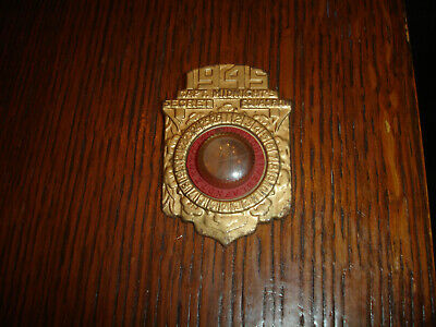 $29.75 • Buy Vintage 1945 Captain Midnight's Decoder Magnifier Badge Pin Shield Secret Squad