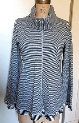 $ CDN25 • Buy Anthropologie Maeve Stripes Turtleneck Top Black & White Size Small S
