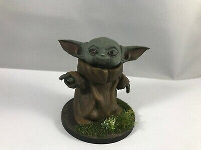 $20 • Buy Painted Baby Yoda Figurine, Star Wars The Mandalorian - 2  Tall