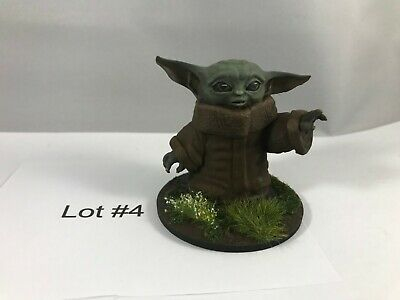 $20 • Buy Painted Baby Yoda Figurine, Star Wars The Mandalorian - 2  Tall Lot #4