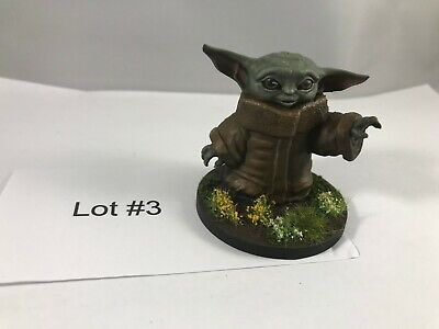 $20 • Buy Painted Baby Yoda Figurine, Star Wars The Mandalorian - 2  Tall Lot #3