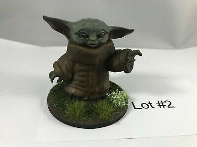 $20 • Buy Painted Baby Yoda Figurine, Star Wars The Mandalorian - 2  Tall Lot #2