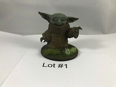 $20 • Buy Painted Baby Yoda Figurine, Star Wars The Mandalorian - 2  Tall Lot #1