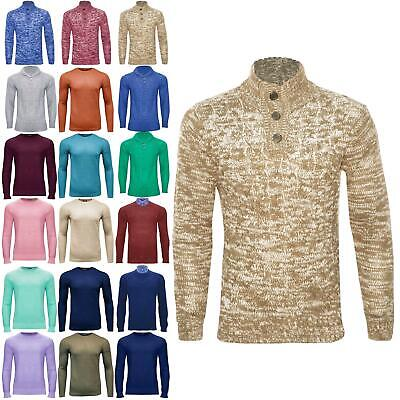 EX D&H Mens Marl Long Sleeve Knitwear Jumper Sweater Knit Ribbed Pullover Top • 2.25£