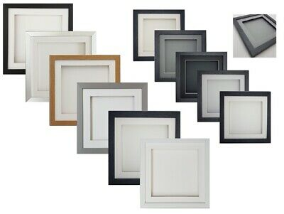 £7.49 • Buy 3D Deep Box Frame SQUARE Picture Photo Craft Art Music Medal Hobby CD Display