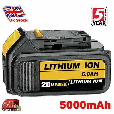 For DeWalt DCB184 18V 5.0Ah Li-ion XR Slide Battery DCD785 DCF885 DCB182 DCB180 • 31.99£