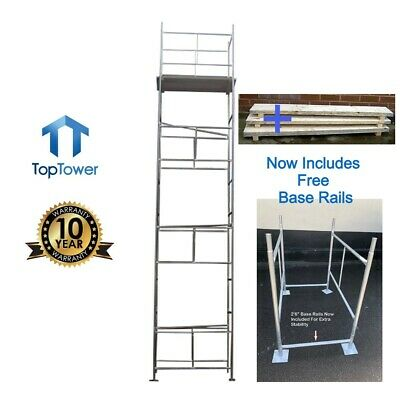 Scaffold Tower + Boards 7.2m 4x 2ft 6in Working Ht DIY Galvanised Steel Towers • 339£