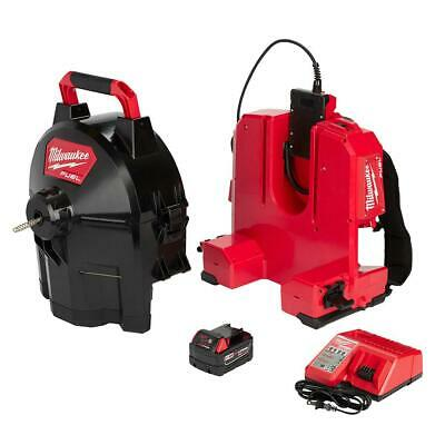 Milwaukee M18 FUEL Switch Pack Sectional Drum System Kit Cordless Drain Cleaning • 450.27£