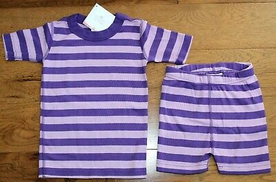 $24.95 • Buy NEW Hanna Andersson PURPLE STRIPE PAJAMAS Sz 4 5 100 110 Girls PJs Shorts U PICK