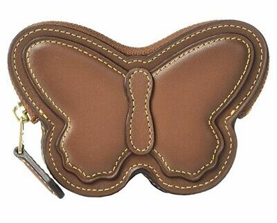 $79.99 • Buy Brand New Authentic Coach Brown Butterfly Coin Case