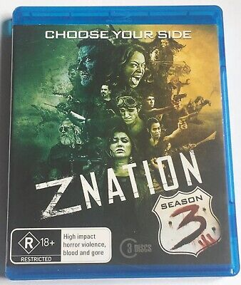 AU14.95 • Buy Z Nation Season 3 (3 Disc Blu-ray) - Australian Release *Free Postage*