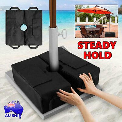 AU21.95 • Buy 46KG Weight Sand Bag For Umbrella Base Stand 2 Detachable Bags Square Protect