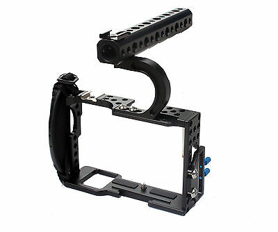 $ CDN93.32 • Buy A6300  DSLR Top Handle Grip Leather Strap Cage For Sony A6300 Camera