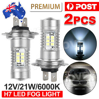 AU17.85 • Buy 2X Headlight Globes H7 LED 12V 21W Xenon 6000k Car White Lamp Bulbs AU