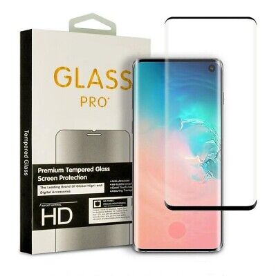 $ CDN8.79 • Buy Samsung Galaxy S9  S10 Plus Tempered Glass Screen Protector Black Case Friendly