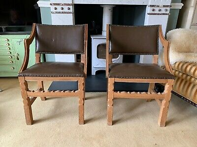 Pair Of French Country Carver Chairs, Oak, Dining Kitchen Collect TF11, WV15, B7 • 105£