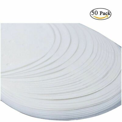 £4.49 • Buy 50x 22,5cm (9 ) Non-Stick Round Greaseproof Parchment Paper Cake Tin Liners