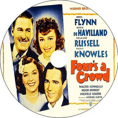 Four's A Crowd DVD Errol Flynn Olivia De Havilland 1938 V Rare • 2.75£