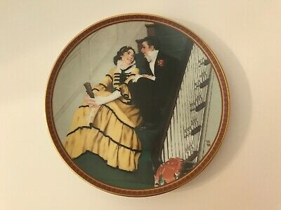 $ CDN12.58 • Buy Edwin M. Knowles Norman Rockwell 1991 Tender Romance - Plate Number 4635A