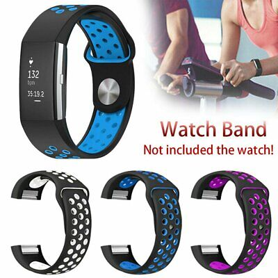 AU5.39 • Buy Sports Watch Band Strap For Fitbit Charge 2 Silicone Bracelet Smart Wristbands
