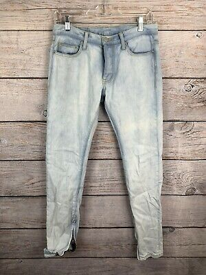 $ CDN40.27 • Buy MNML Light Blue Jeans 100% Cotton Button Fly Zip Ankles 5 Pockets Women's Size 2