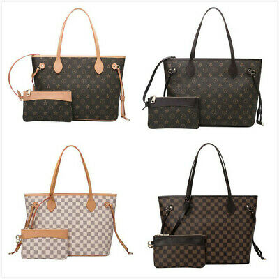 AU53.99 • Buy NEW Women Ladies Checkered Tote Bag Leather Style Quality Shoulder Handbag
