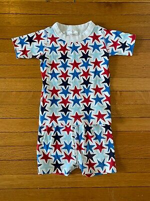 $5.50 • Buy Hanna Andersson Boys Red White Blue Stars Short Pajamas Size 100 4 Years