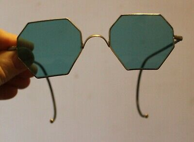 $79.95 • Buy Vintage Willson Octagon Sun Glasses Blue~Antique~Steampunk Sunglasses